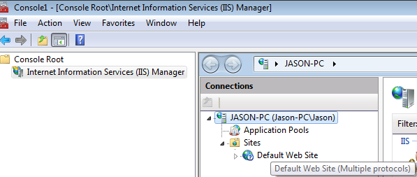 Internet Information Services (IIS) Manager