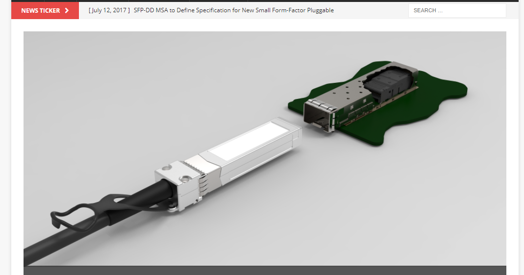 New double density SFP pluggable spec nears pletion ~ Converge! Network Digest