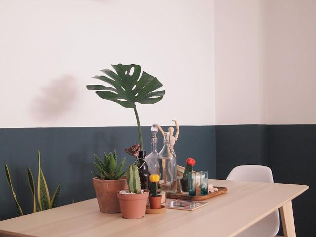 como pintar una pared con dos colores, hacer un half painted