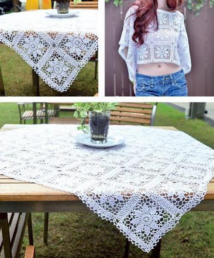 Crochet Tablecloth- crochet square motif