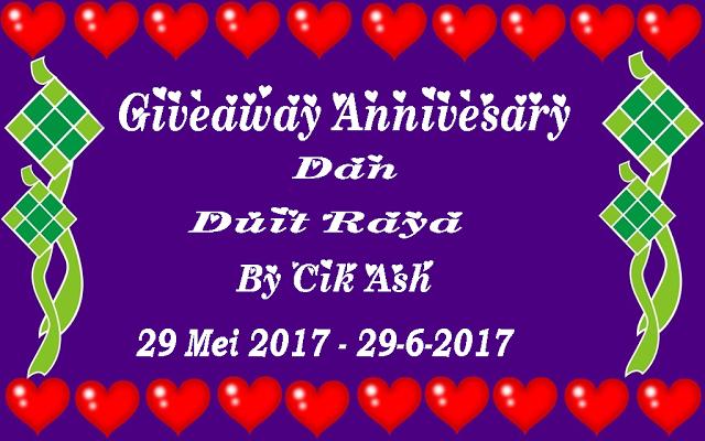 Giveaway Annivesary Dan Duit Raya