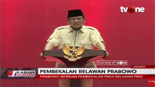 Prabowo: Saya Manusia Biasa, Kalau Salah Saya Minta Maaf