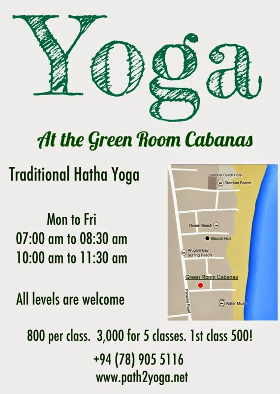Yoga Classes in Arugam Bay Poster