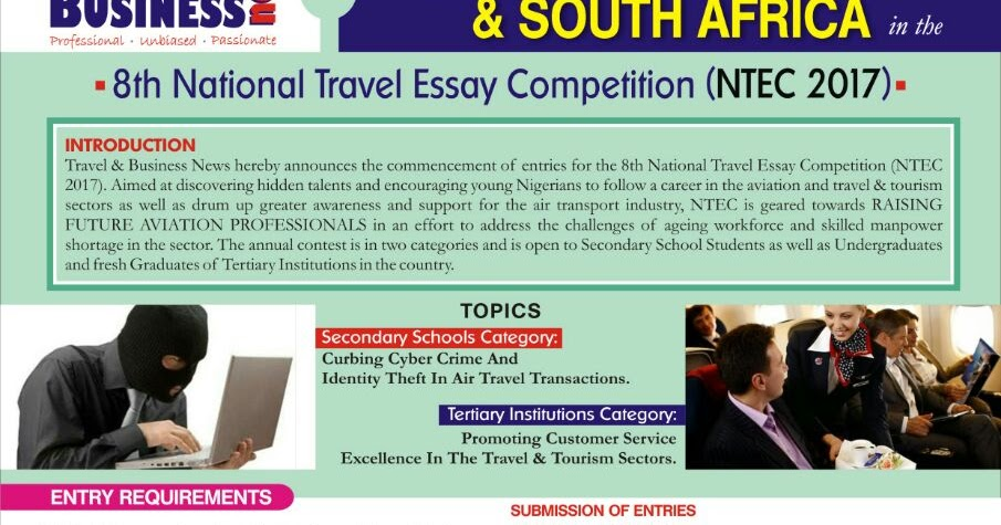 th national travel essay competition ntec opens in lagos