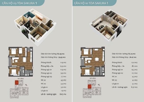 Thiết kế căn hộ 09 chung cư Sakura 1