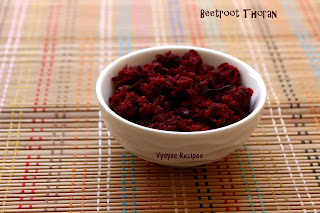 Beetroot Thoran (Kerala Style) - Kerala Beetroot stir fry