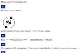 Contoh Soal Nomor Atom dan Nomor Massa