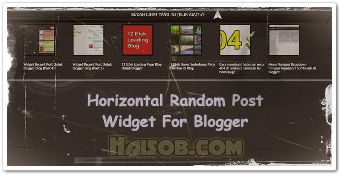 Widget Random Post horisontal efek show hide untuk Blogger