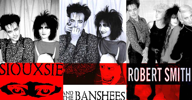 Siouxsie et Robert Smith