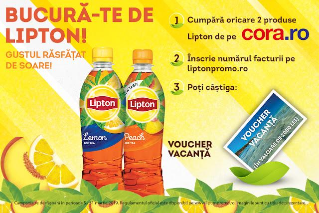 Castiga un voucher de vacanta cu Lipton