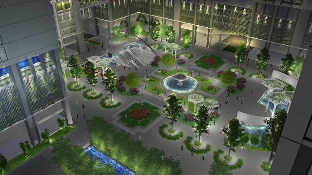 Khuôn viên xanh dự án Eco-green city