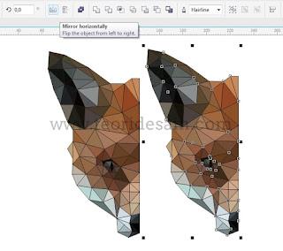 memutar gambar secara horizontal menggunakan coreldraw
