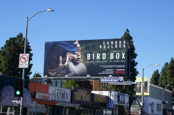 Bird Box film billboard