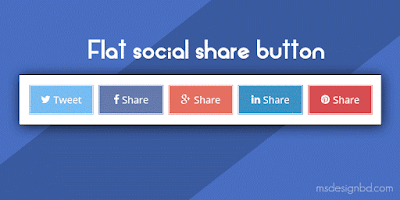 Flat Social Share Button for Blogger