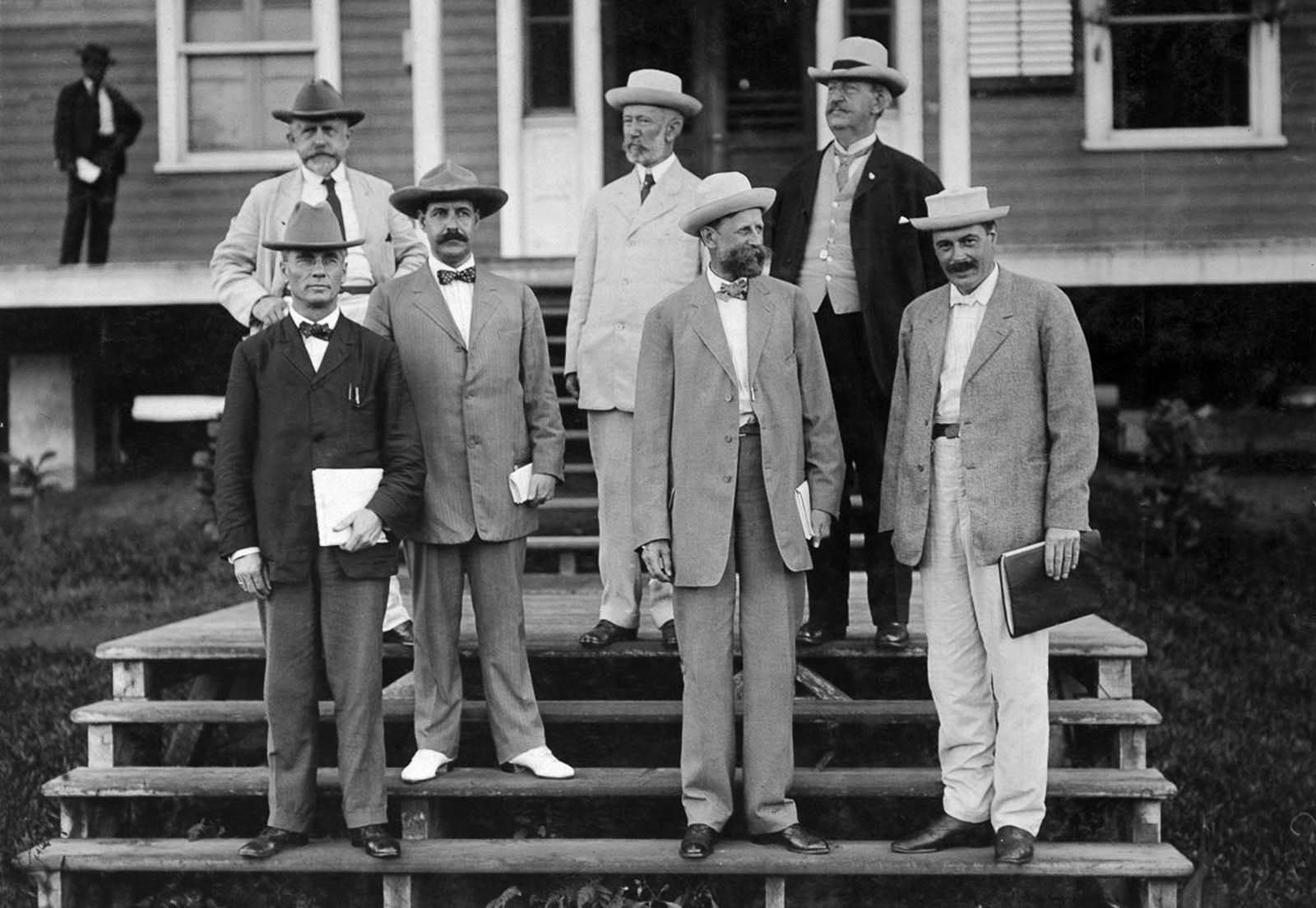 American engineers sent by President Roosevelt. 1908.