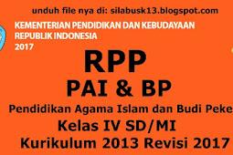 Rpp Pendidikan Agama Islam Dan Kecerdikan Pekerti (Pai & Bp) Kelas 4 Sd/Mi Kurikulum 2013 Revisi 2017