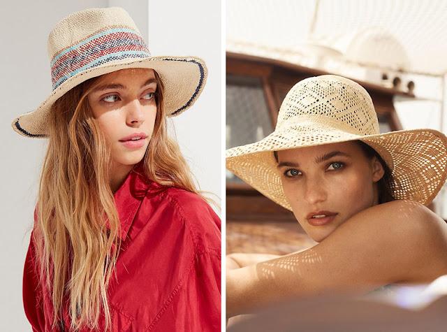 Девушка в летней тканевой и соломенной широкополой шляпе