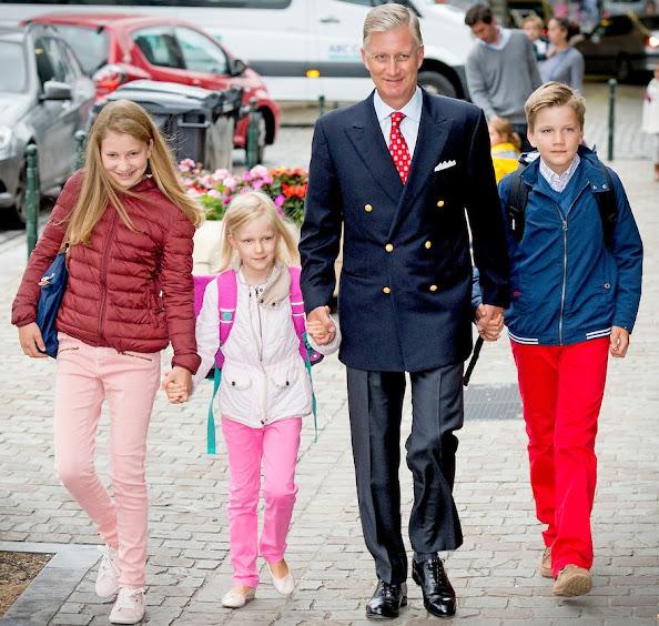 Crown Princess Elisabeth, Princess Eleonore and Prince Gabriel of Belgium