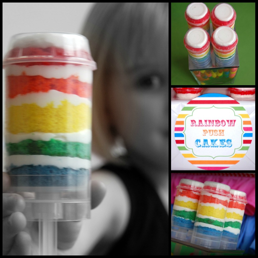 simply creative insanity rainbow push pop cakes tutorial. Black Bedroom Furniture Sets. Home Design Ideas