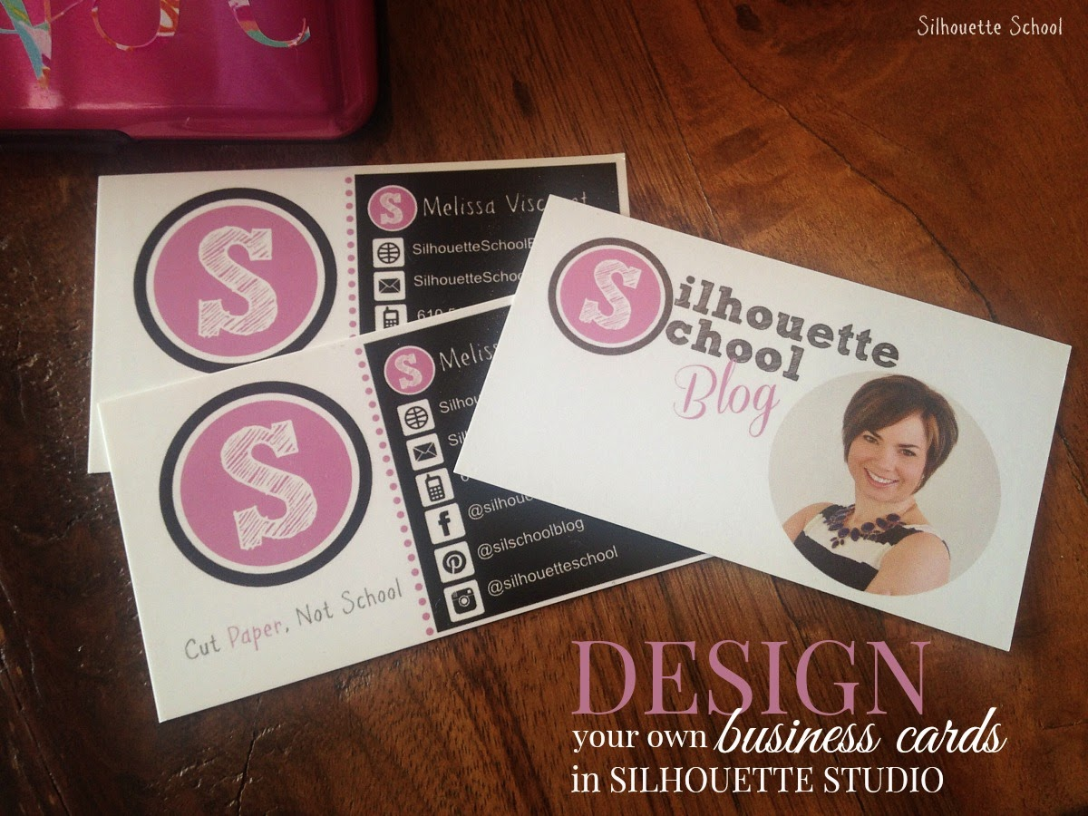 Silhouette Studio, design, business cards, DIY, do it yourself