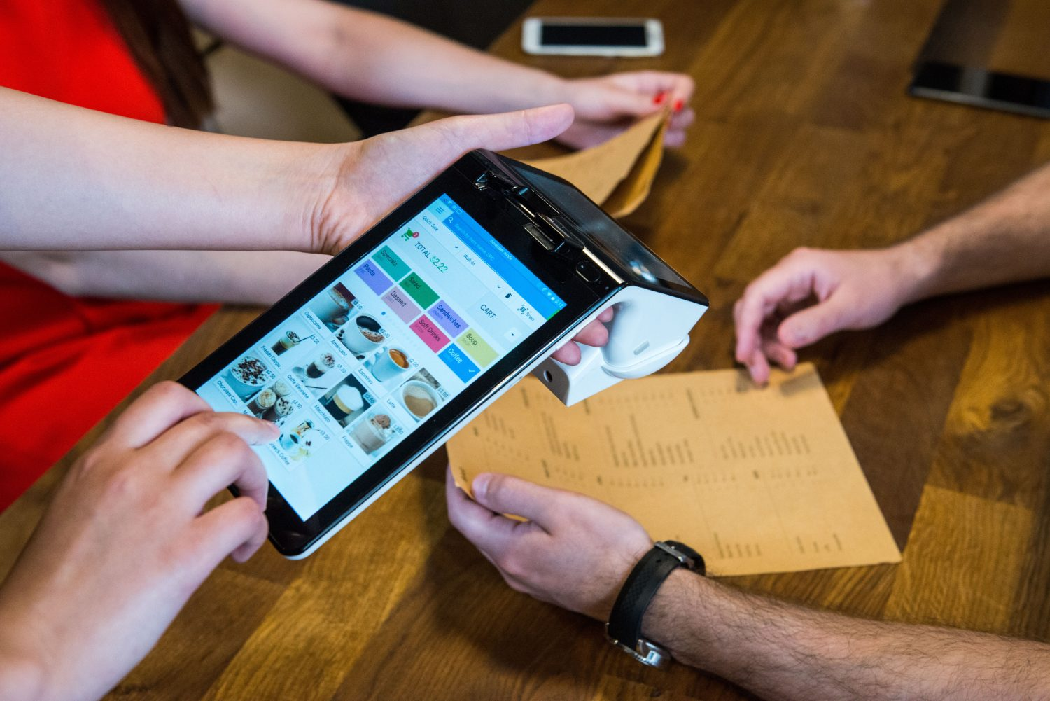 A lot of point-of-sale software is run through tablet computers, which are easier to use and almost universally familiar to employees.