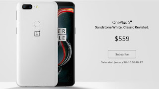 This variant s launched inwards the White color OnePlus 5T Sandstone Variant launched inwards the begin of 2018