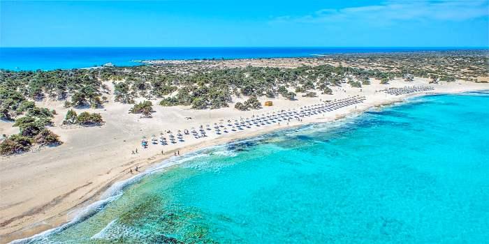 Spiaggia dell'isola di Chrissi - Creta