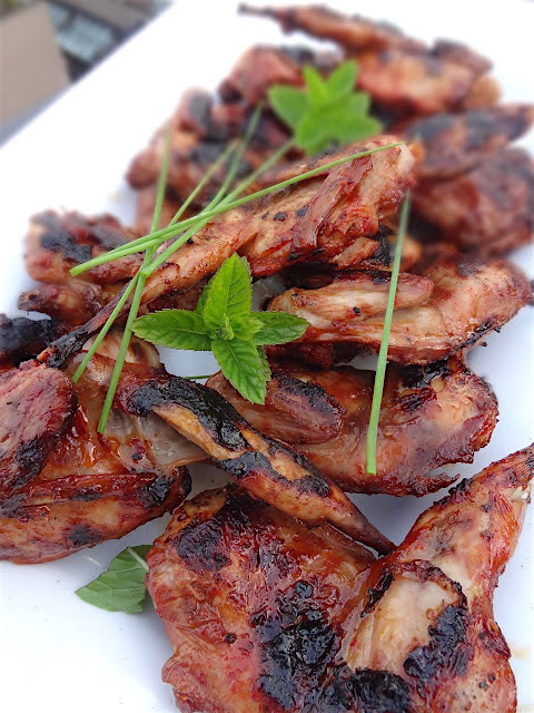 Grilled Quail with Smokey BBQ Sauce & Sambal Oelek