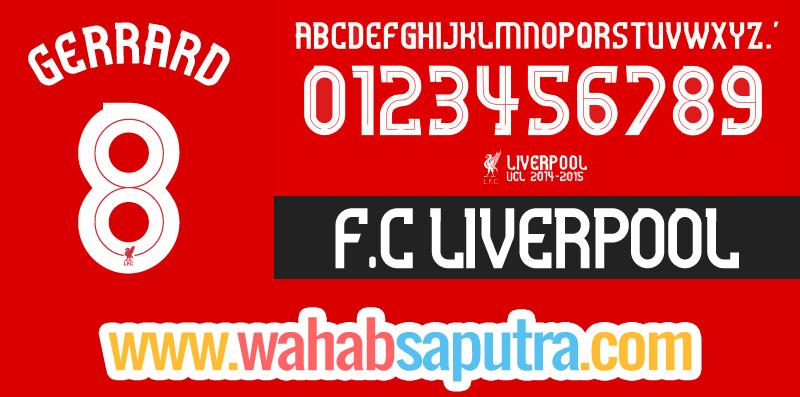 Download Liverpool 2011-2016 UCL UEFA Font TTF
