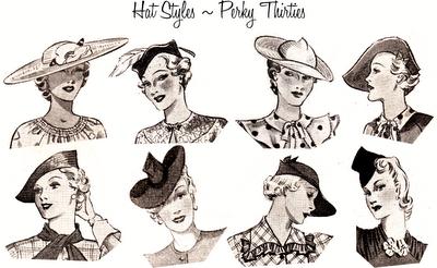 04d60d8c8c Penteados e chapéus dos anos 30.