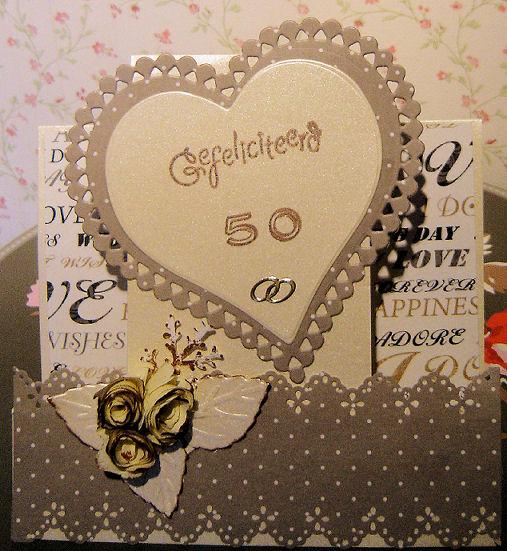 kaart 50 jaar getrouwd Gerja's kaarten: 50 jaar getrouwd!! kaart 50 jaar getrouwd