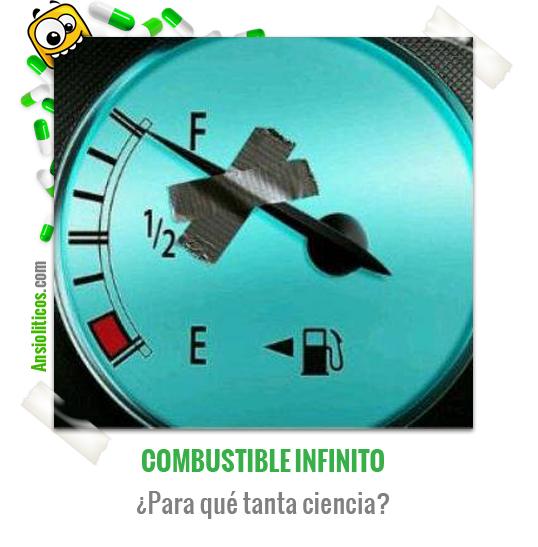 Chiste de Coches sobre Combustible Infinito