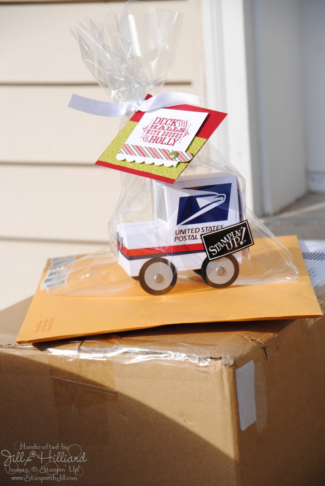 Getting My Gift on Day 1- the mailman – Jill's Card Creations