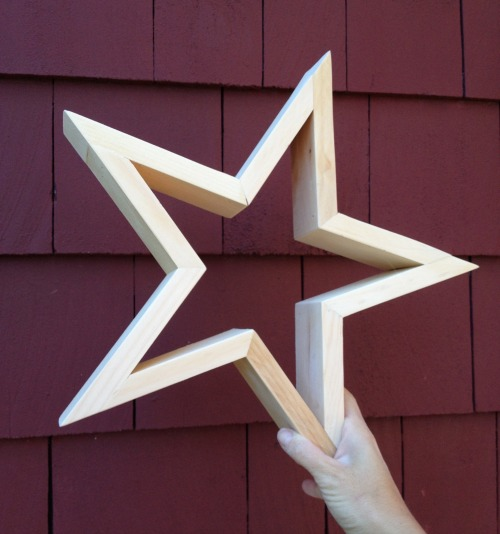 diy wood star complete