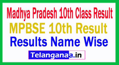 MP 10th Result 2018 Madhya Pradesh Board 10th Class Result MPBSE 10th Class Result 2018
