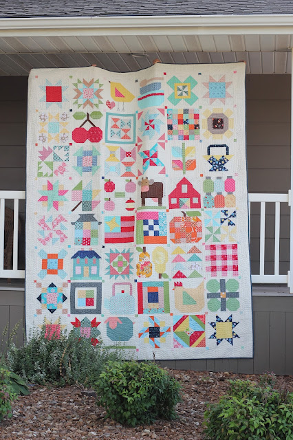 "Lori Holt's Vintage Farm Girl Quilt in 12"" blocks"