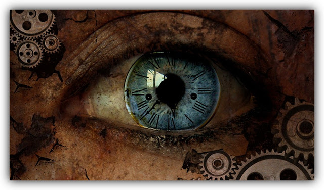 Human Eye Containing Clockface