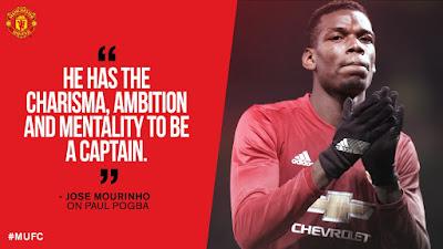 Mourinho: Pogba Layak Jadi Kapten Manchester United