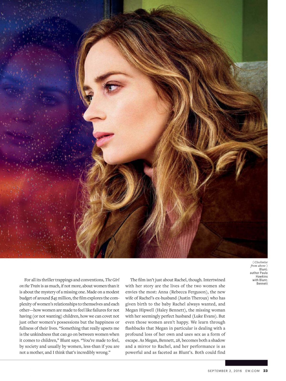 Emily Blunt In Entertainment Weekly Magazine September Issue