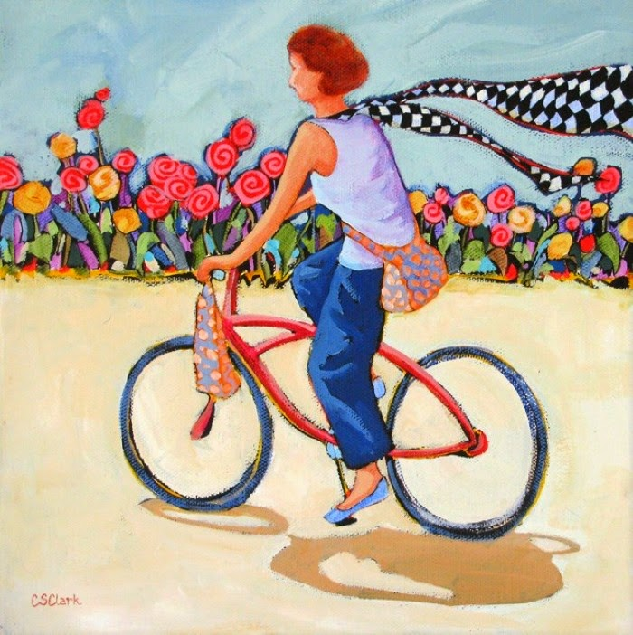 Красочные и смелые картины. Carolee Clark