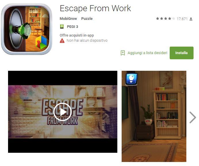Soluzioni Escape From Work di tutti i livelli