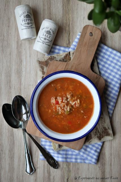 Experimente aus meiner Küche: Gefüllte Paprika-Suppe