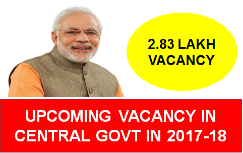 UPCOMING VACANCY IN CENTRAL GOVERNMENT