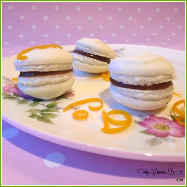 ... orange flavoured, vegan chocolate ganache counters beautifully against