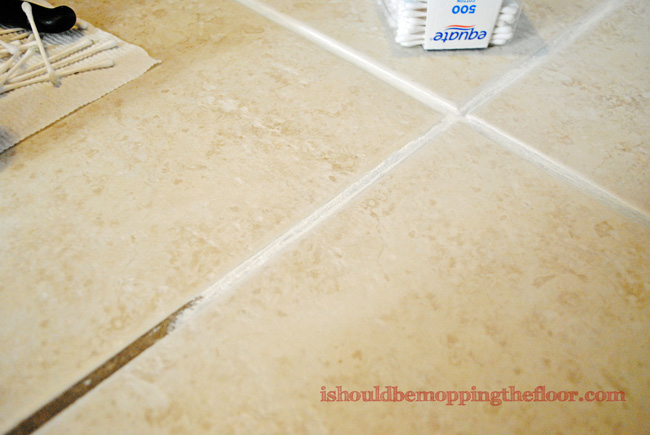 An Easy DIY Fix for Dated Tile Flooring: How to Dye Your Own Grout {with step-by-step tutorial}