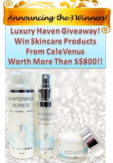 celevenus luxury haven whitening series giveaway