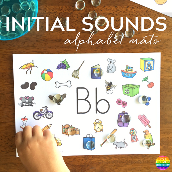 Initial Letter Sounds Mats | you clever monkey