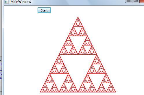 How to draw Sierpinski triangle in WPF