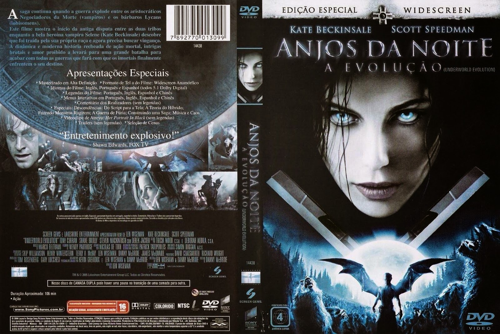 Anjos da Noite 2 - A Evolução DVD Capa