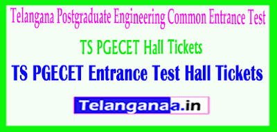 TS PGECET  Hall Tickets Download